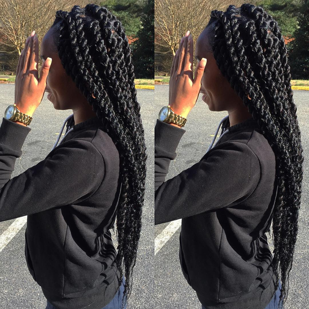 protective style twist hair