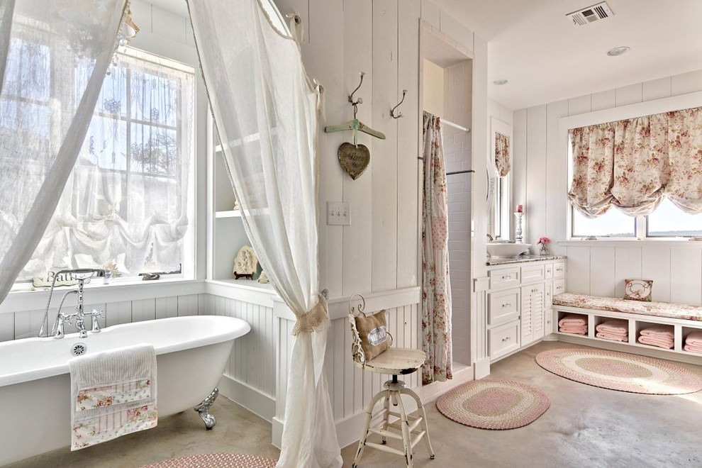 shabby chic bathroom decor designs