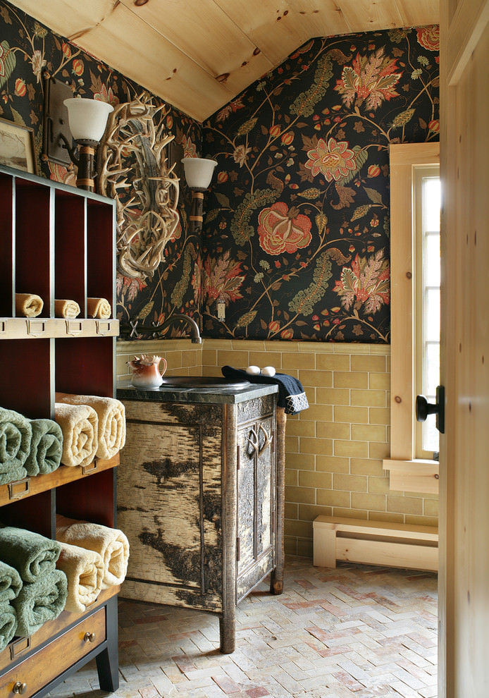 22 floral bathroom designs decorating ideas design Rustic bathroom decor ideas