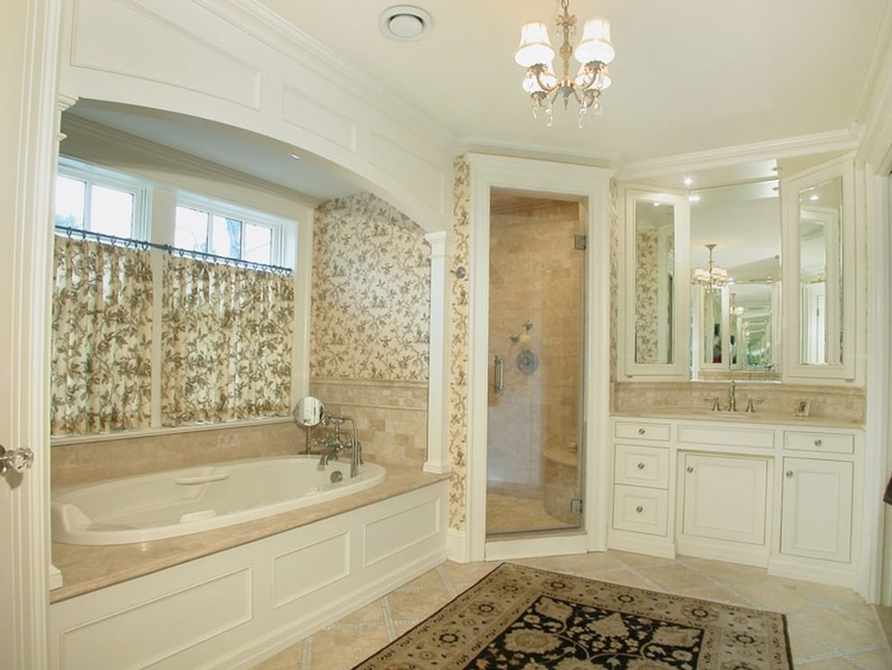 22 floral bathroom designs decorating ideas design for Bathtub and shower designs