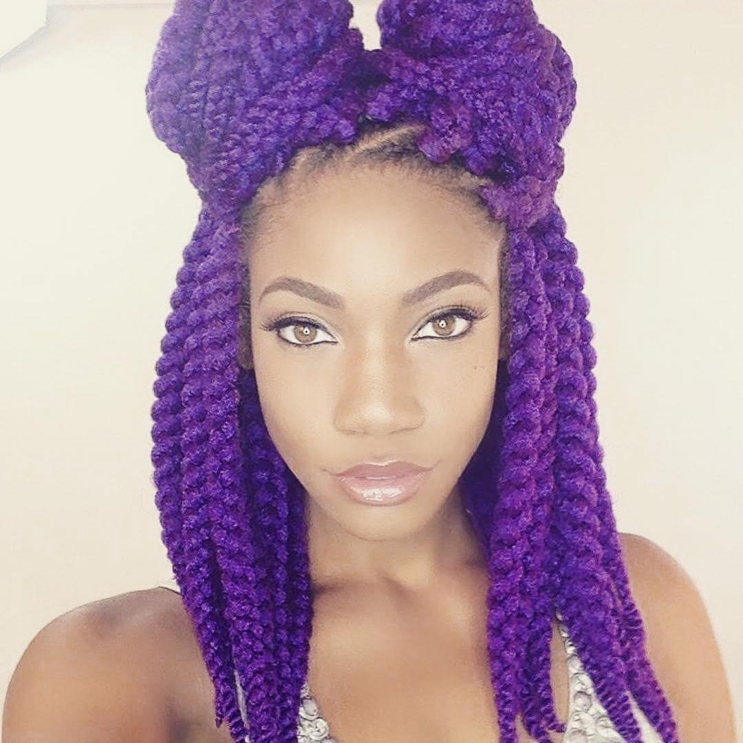 Purple Twisted Hair