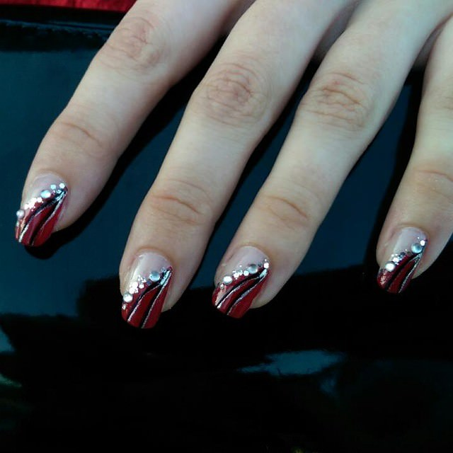 excellent prom nail design