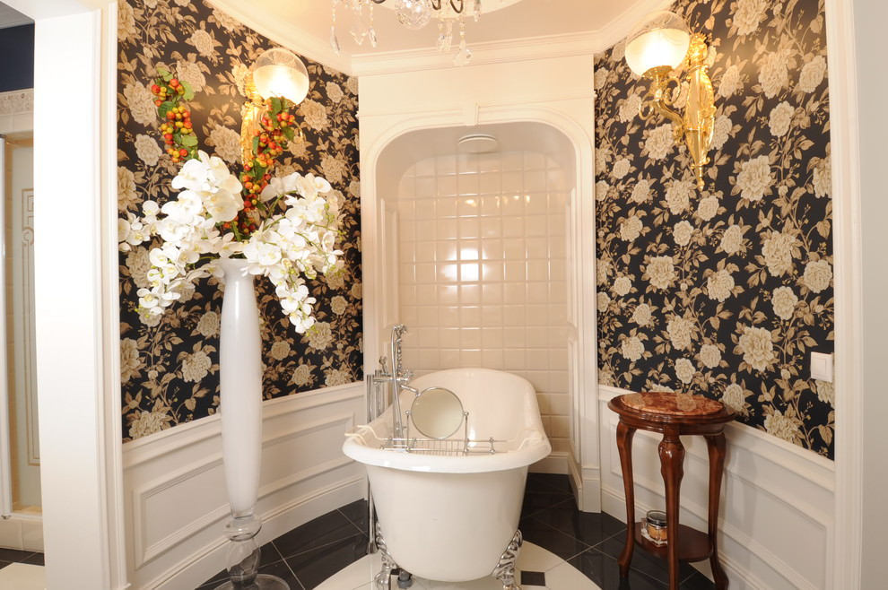 elegant floral bathroom decor