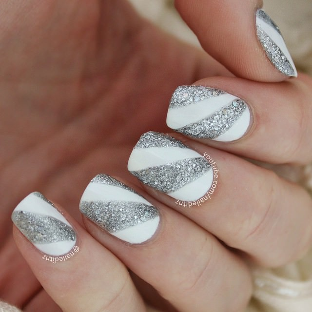 Elegant Silver Nails For Prom: 27+ Prom Nail Art Designs, Ideas
