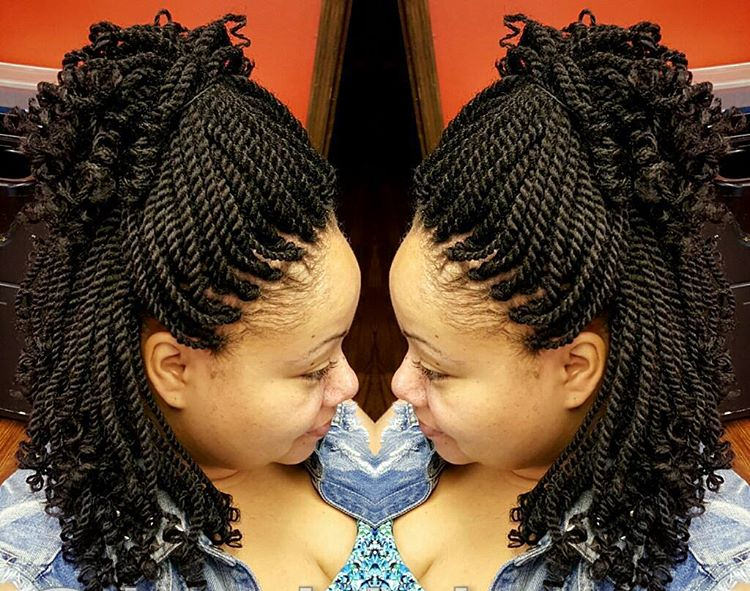 Crochet Braids Kinky Twists : Short Hair Twist Black Hairstyle Dark Brown Hairs