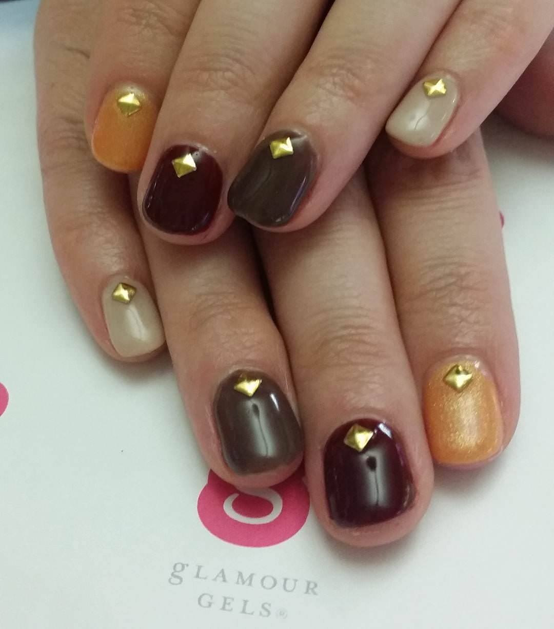 Awesome Tan Nail Design