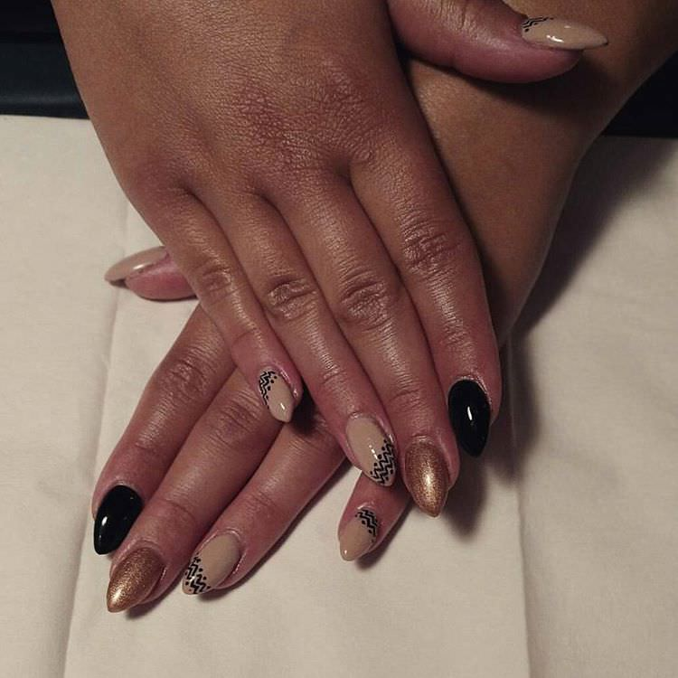 Good Looking Tan Nail Design