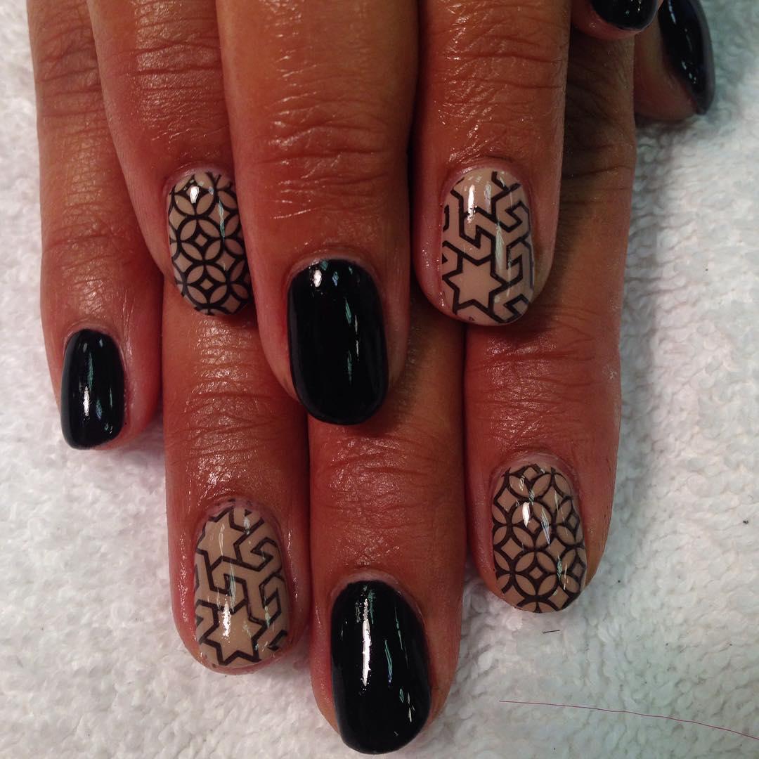 Dazzling Tan Nail Design