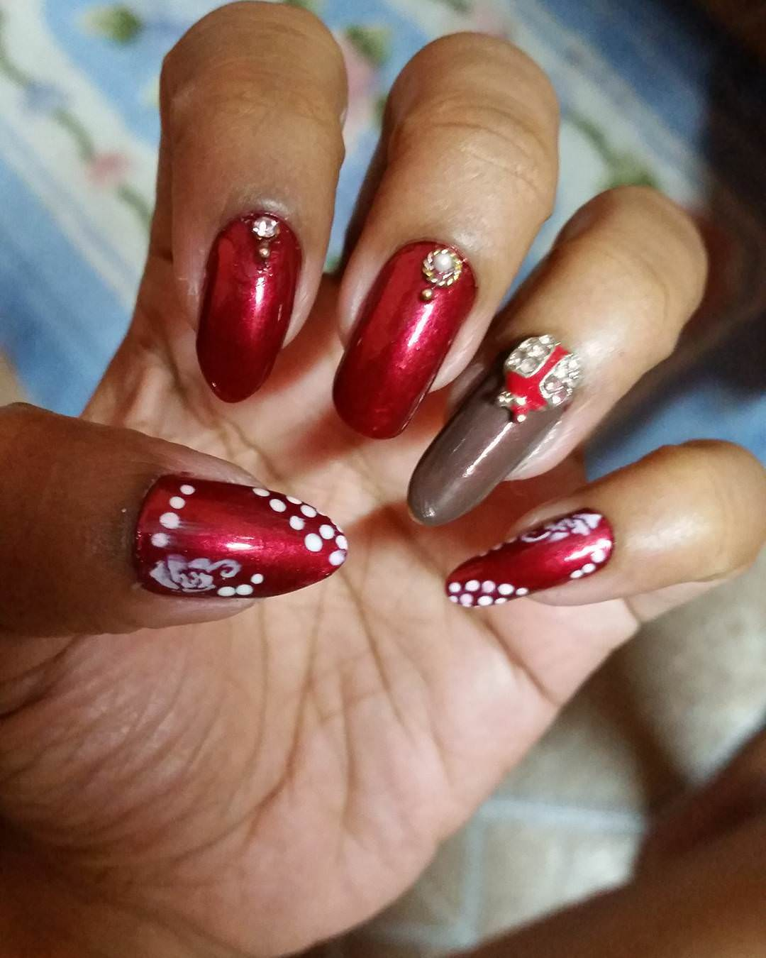 Awesome Dark Red Nail Designs
