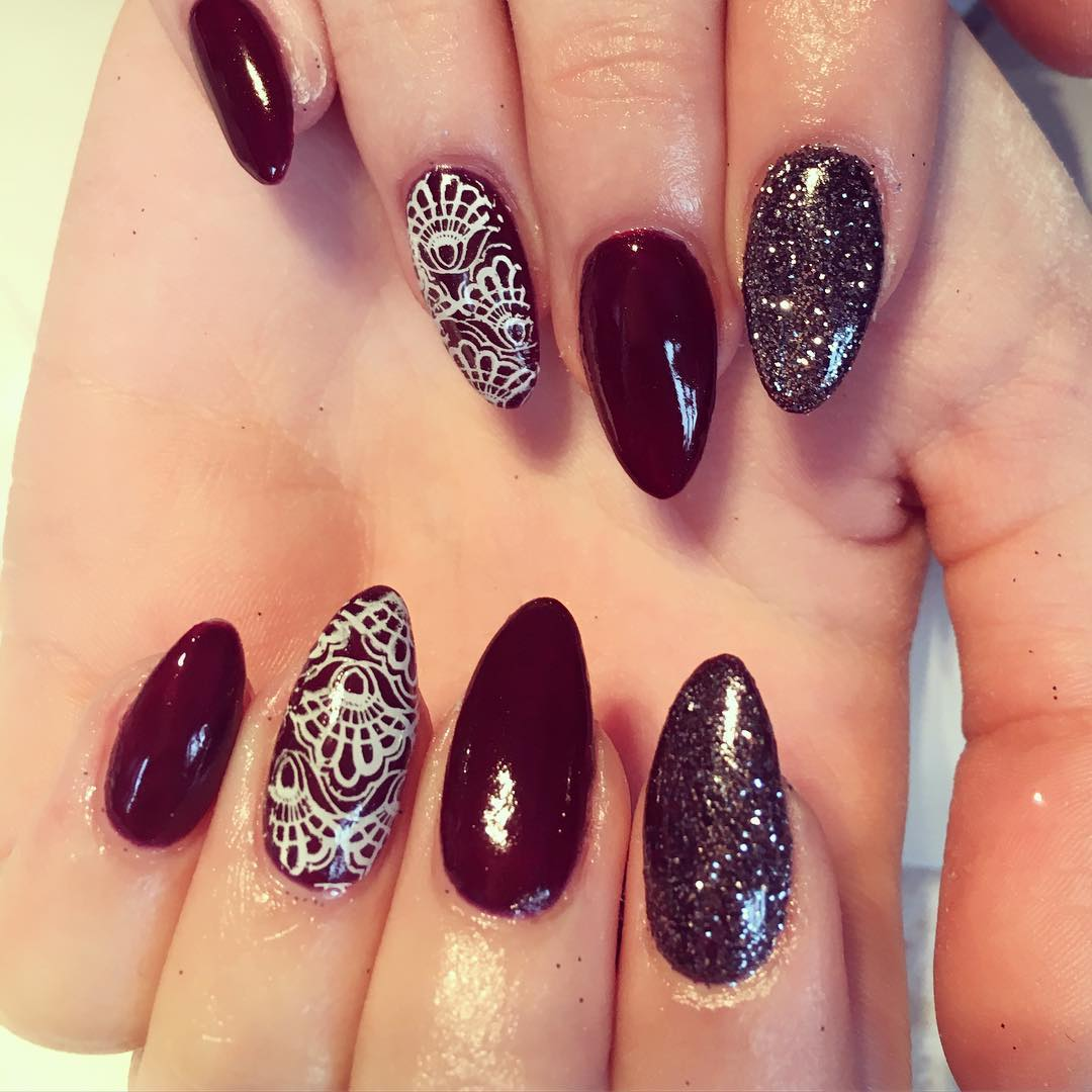 24+ Dark Red Nail Art Designs , Ideas | Design Trends - Premium PSD ...