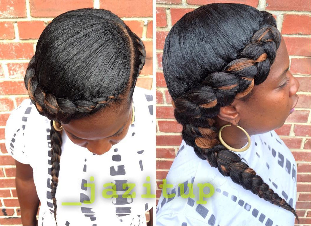 side braided hair