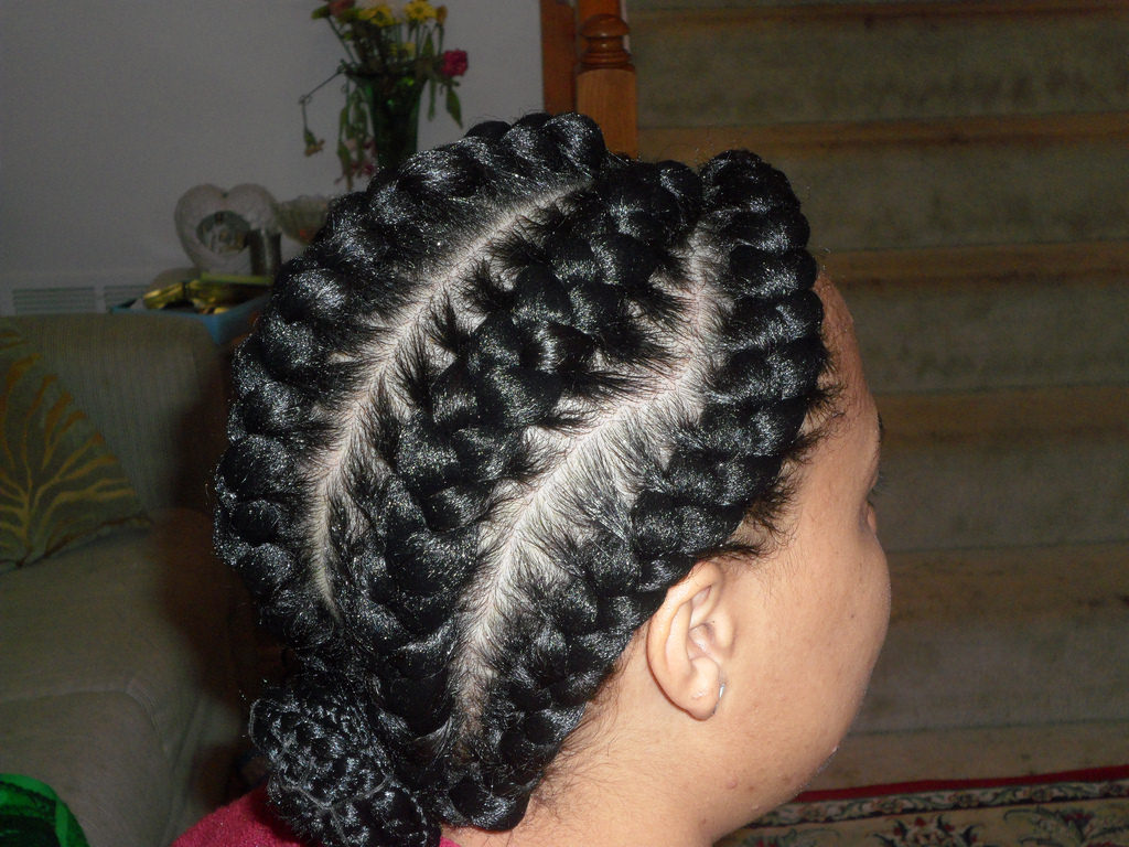 braided hair bun1