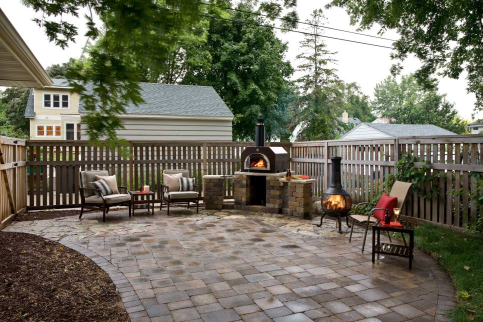 Outdoor Corner Firepit Designs
