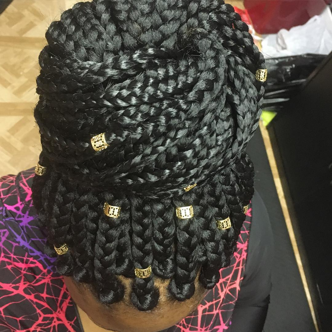 large box braid hair