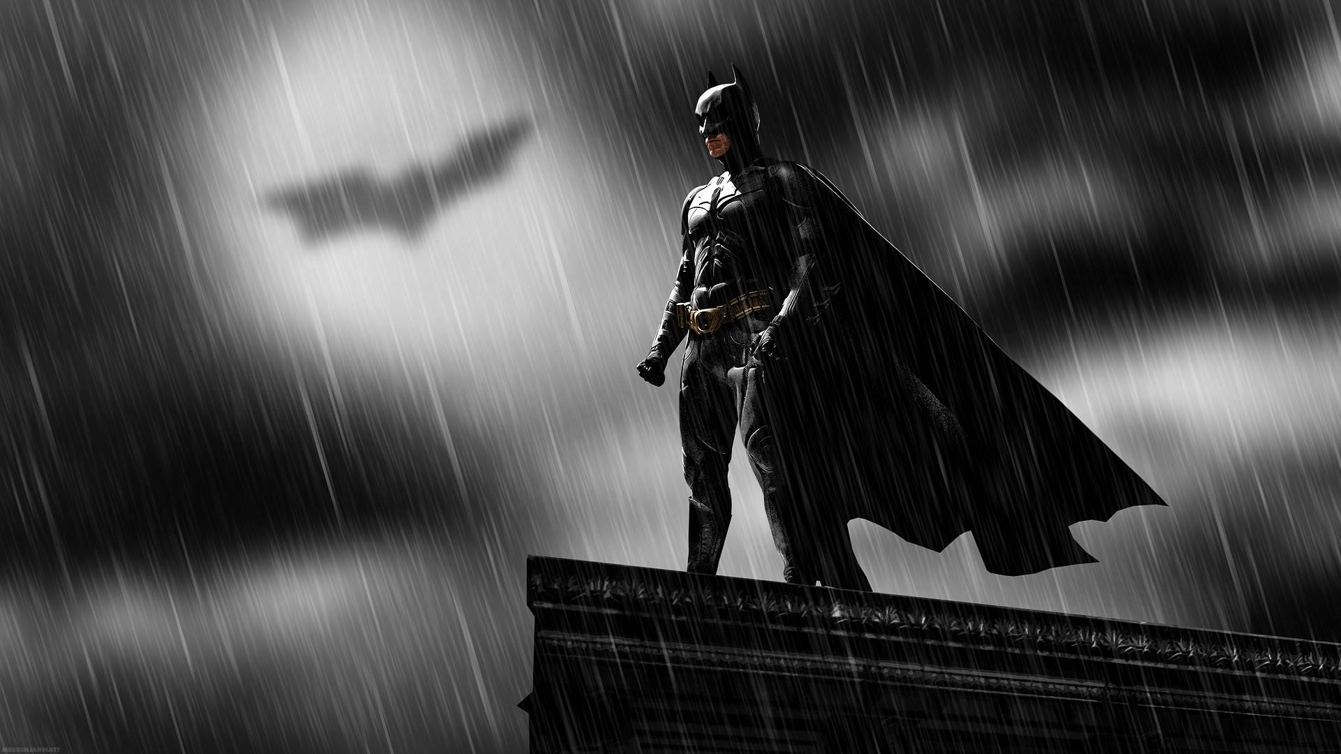 batman in rain wallpaper