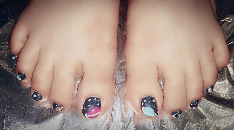 Stars Toes Nail Designs