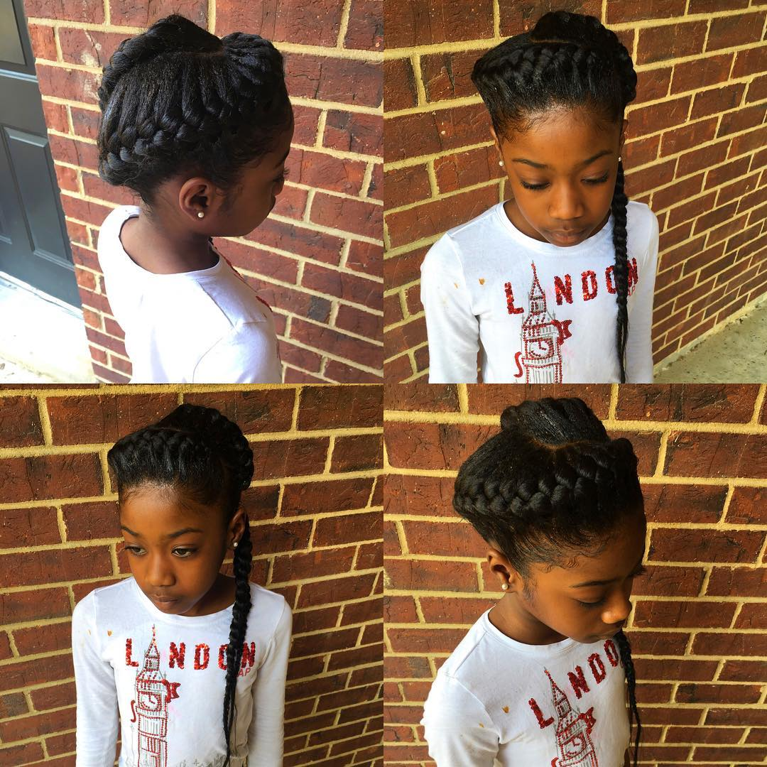 goddess braid for kids