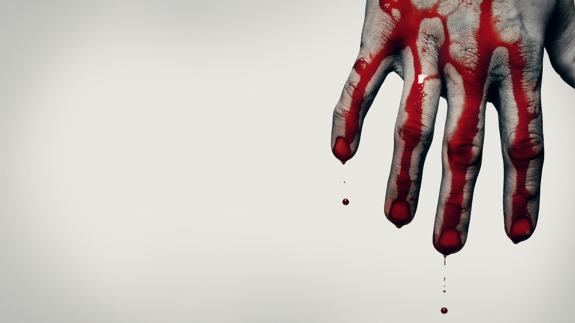 hand with blood scary image background