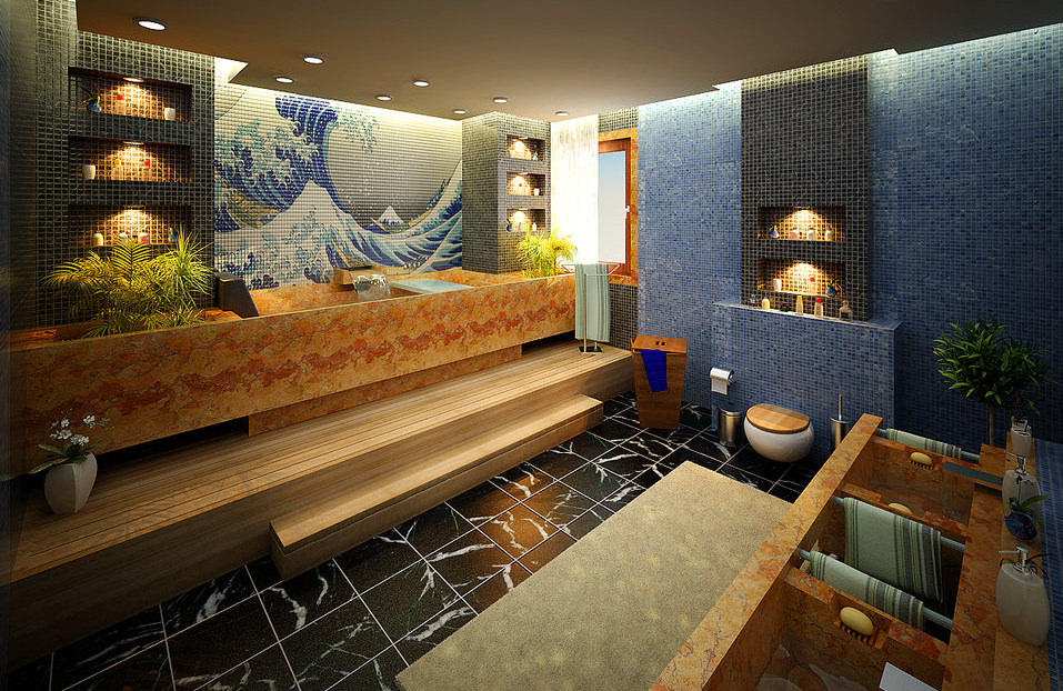 Master Bathroom Wall Mural Designs