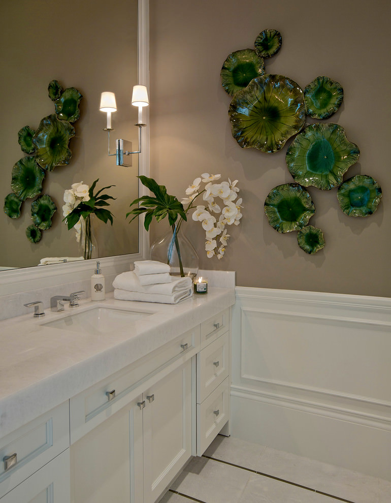 Sea Green Bathroom Mural Designs