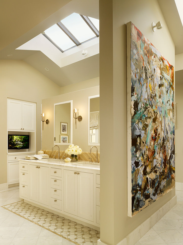 Classic Bathroom Wall Mural Designs