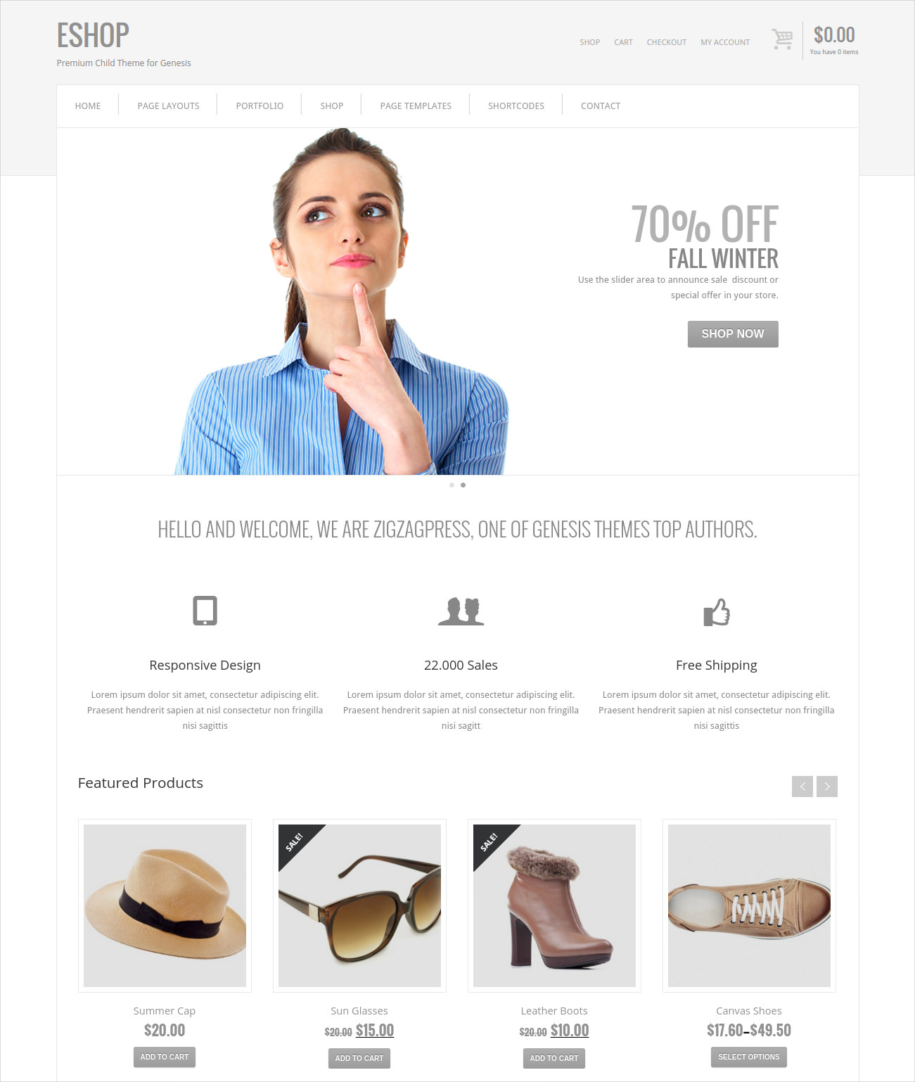 Minimal WordPress WooCommerce Theme
