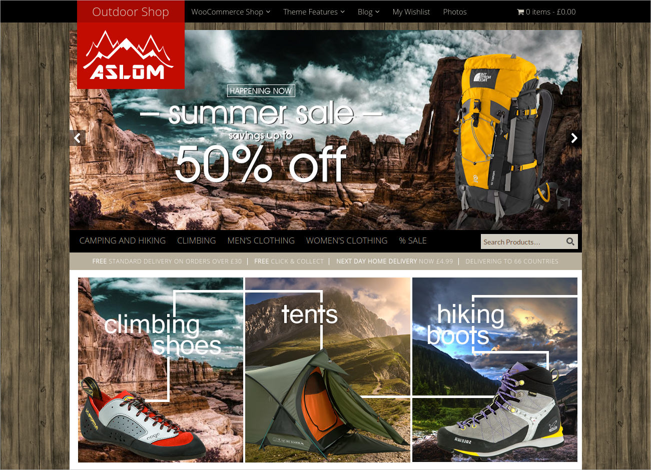 ecommerce wp theme for outdoor sports 49