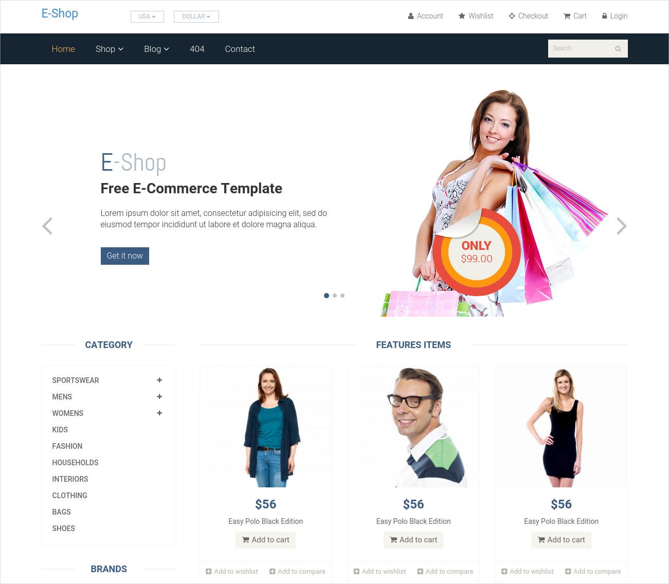 eshop responsive woocommerce theme free