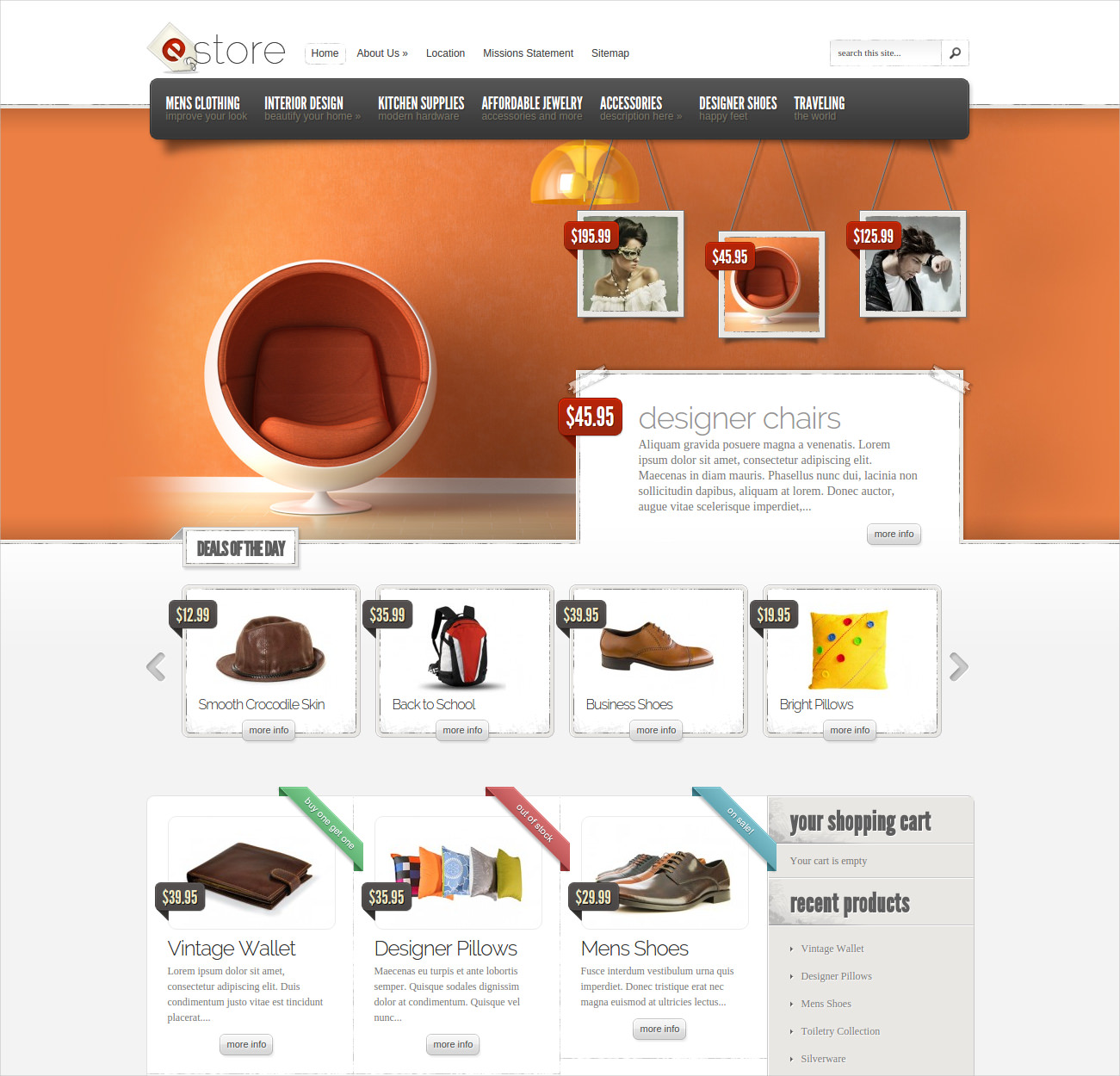 Wordpress Ecommerce Clothing Theme