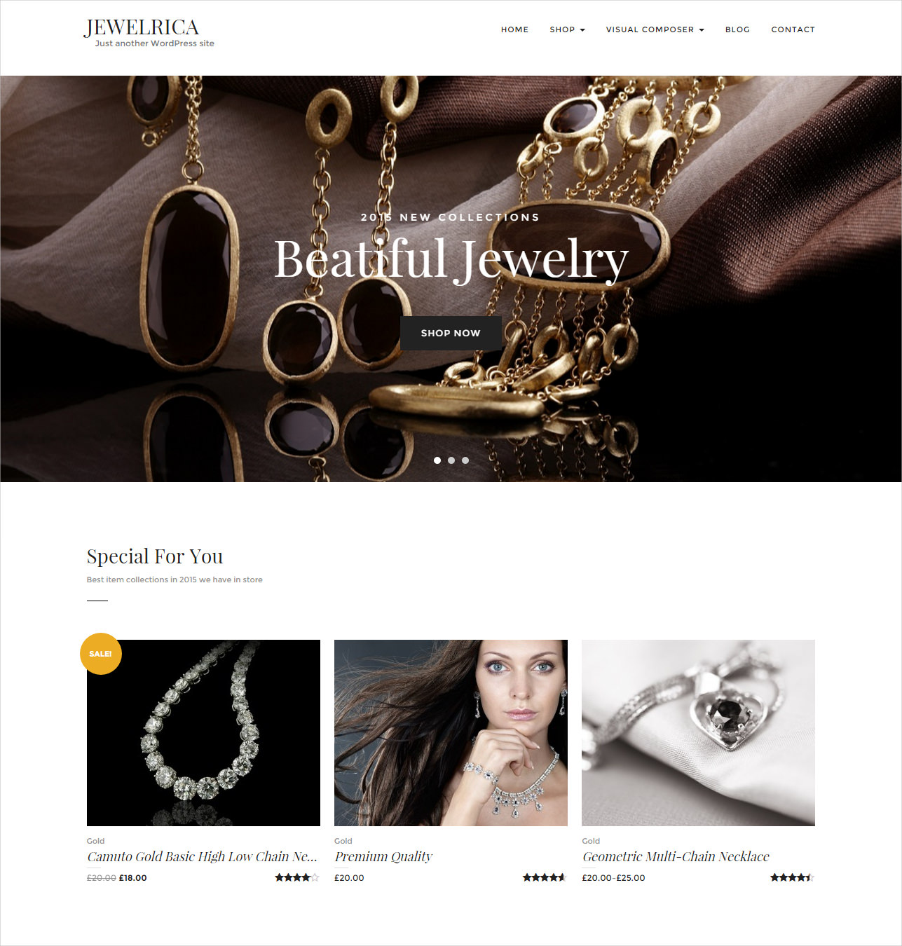 Beautiful & Responsive WP Ecommerce Theme