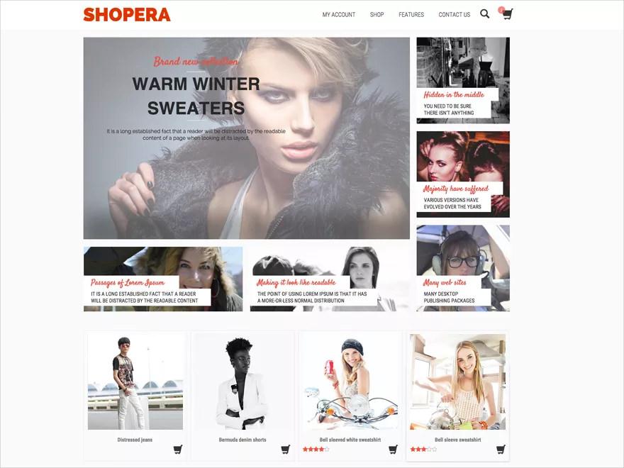 shopera wp theme free