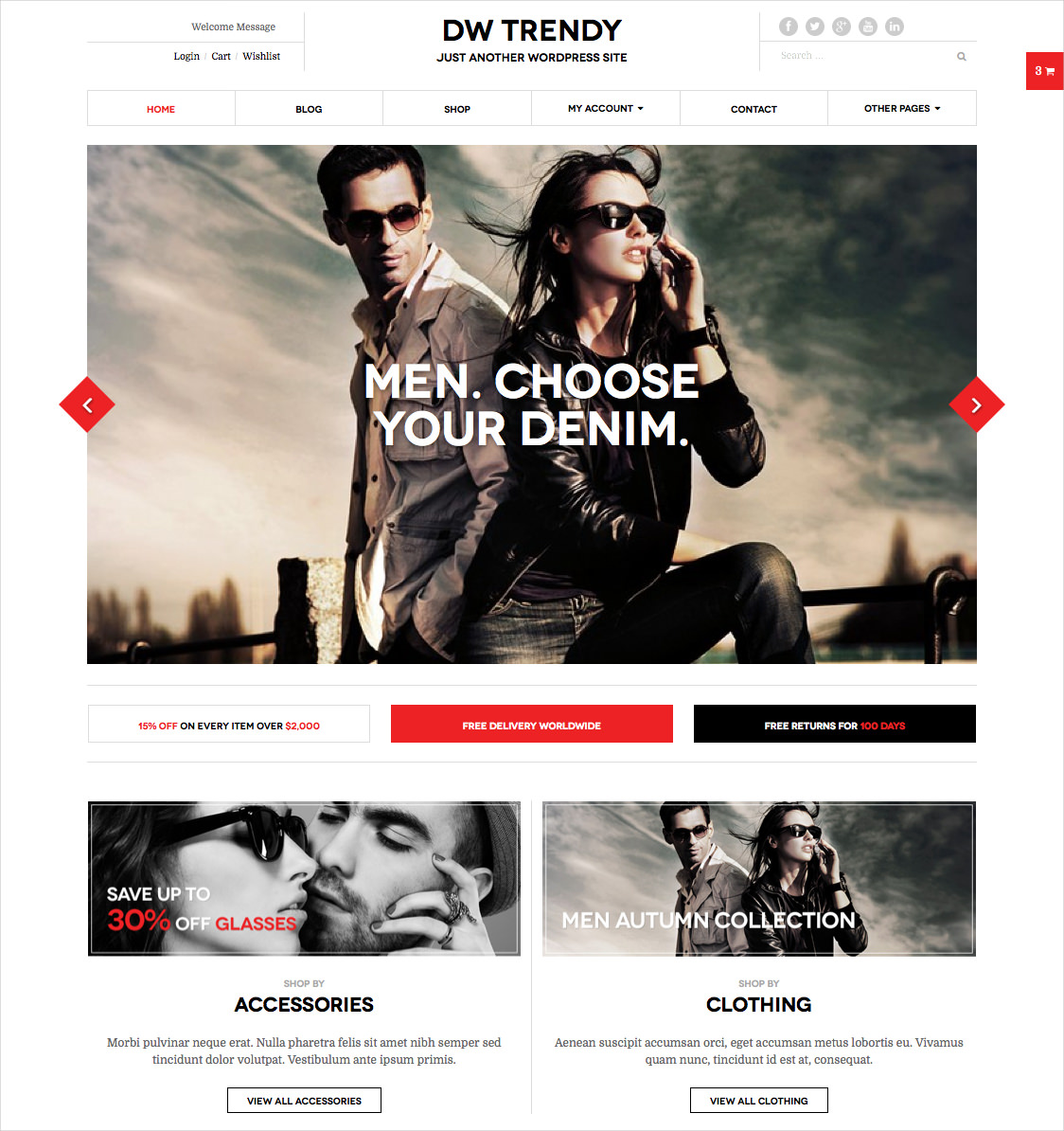 Shopping WP Website Theme