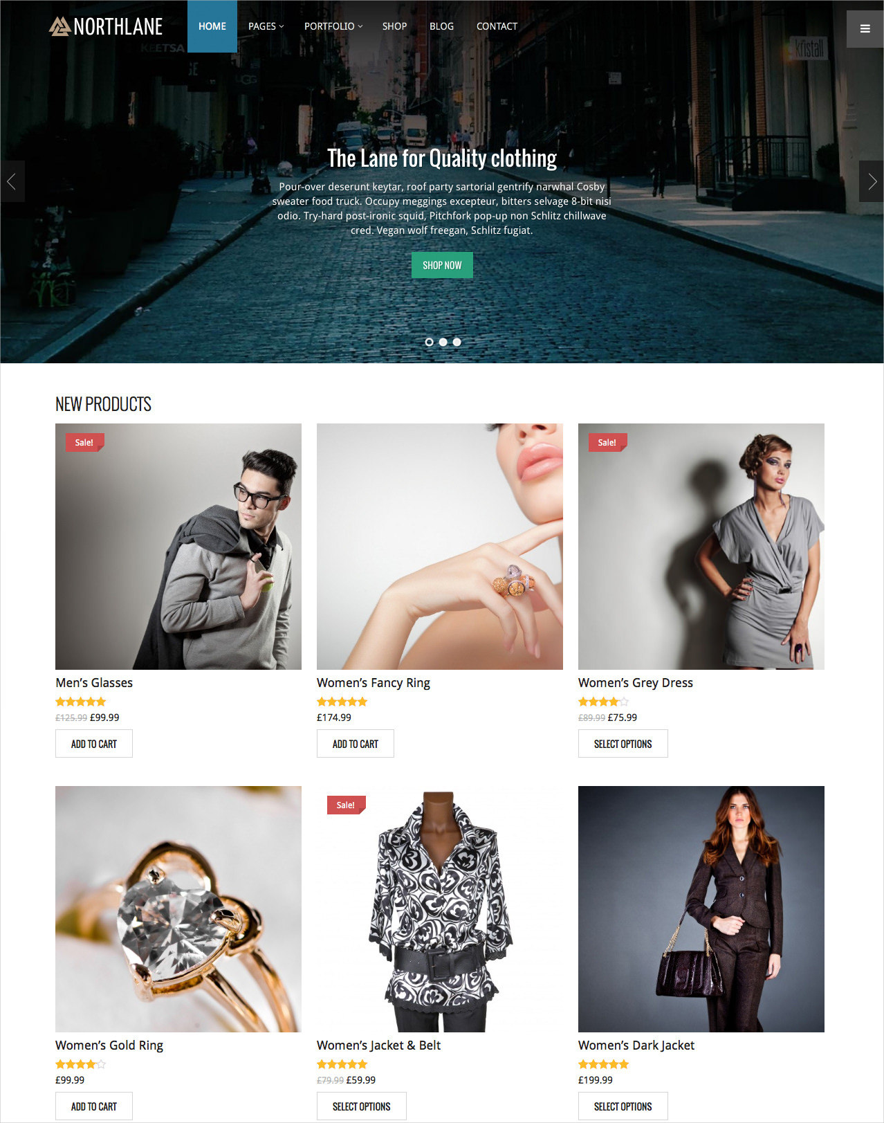 Jewelry Ecommerce Website Template