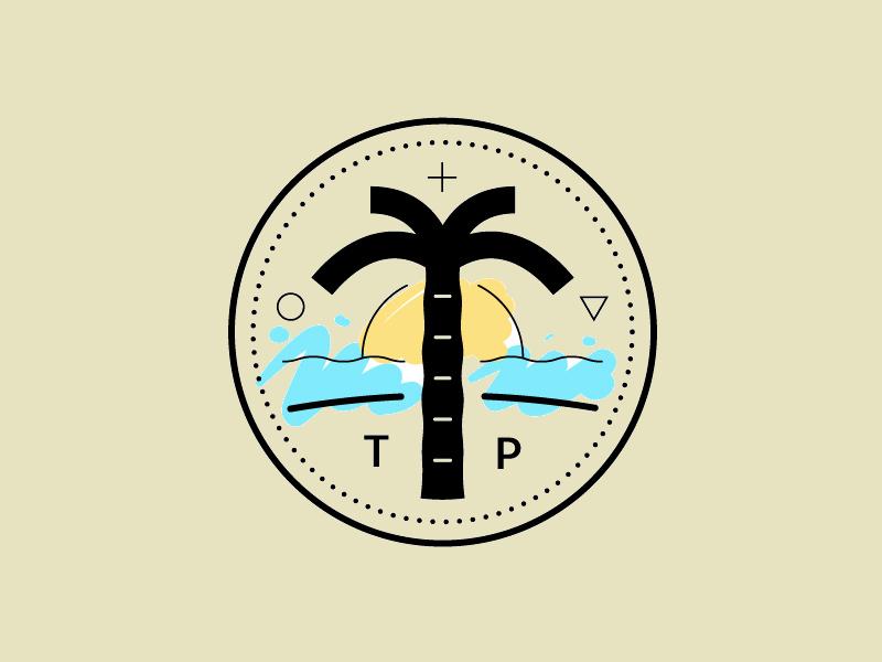Circular Palm Tree Logo