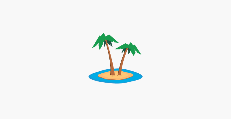Palm Tree Logo for Resort