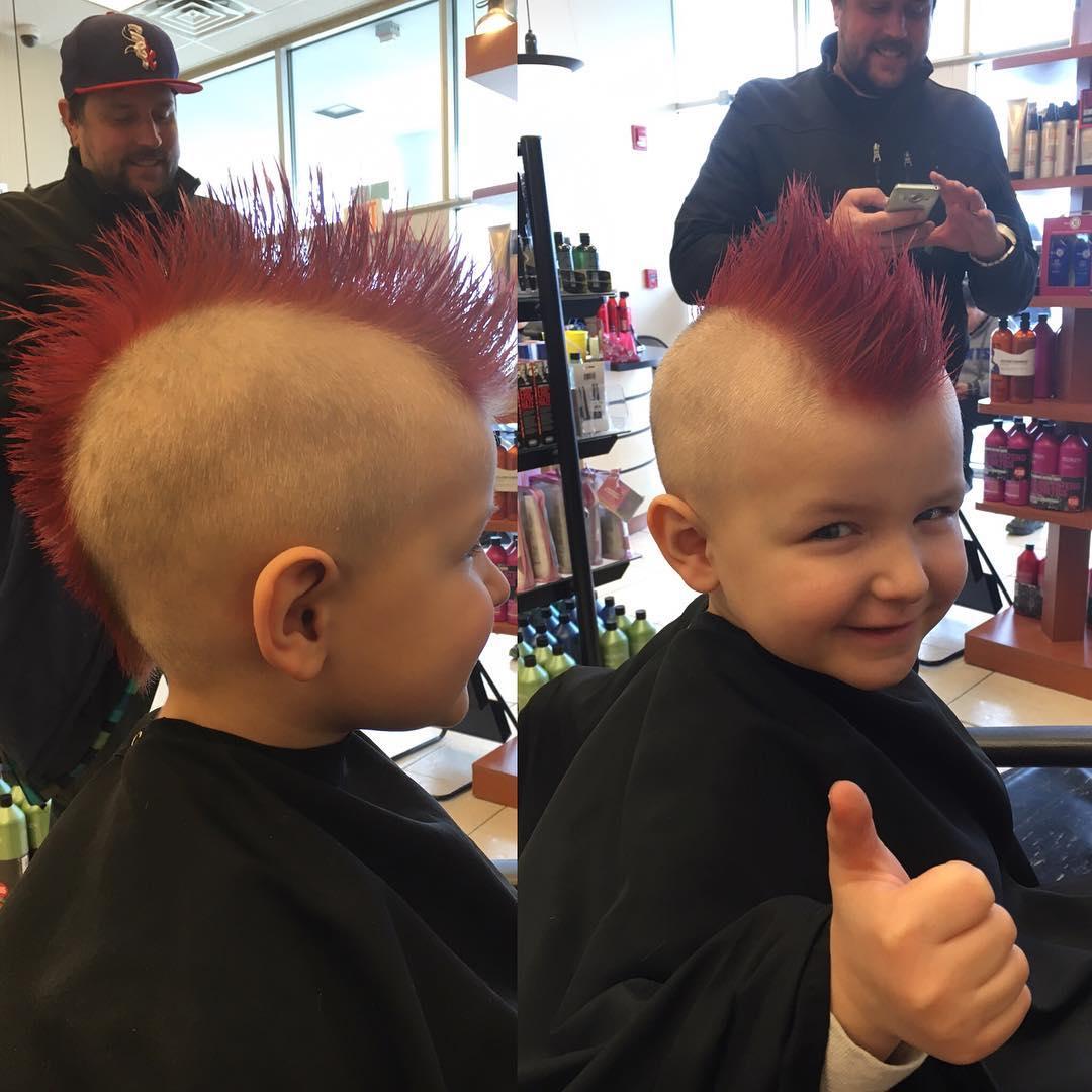 Astounding 26 Edgy Mohawks Hairstyles For Kids Design Trends Hairstyles For Men Maxibearus