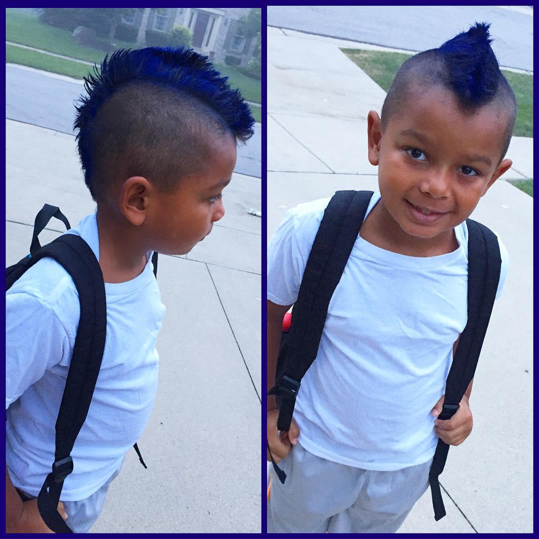 Blue Mohawk Hair