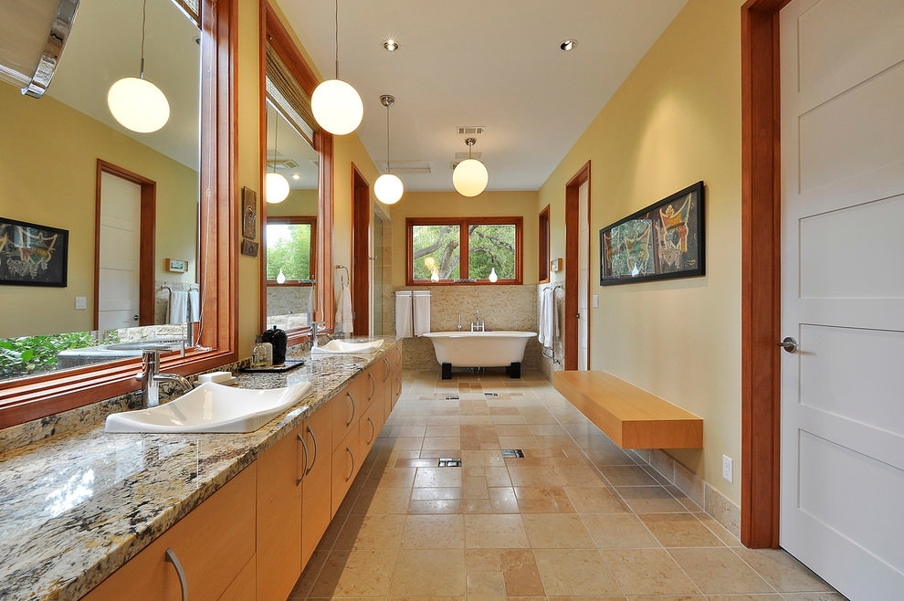 Master Bathroom Granite Sink Designs