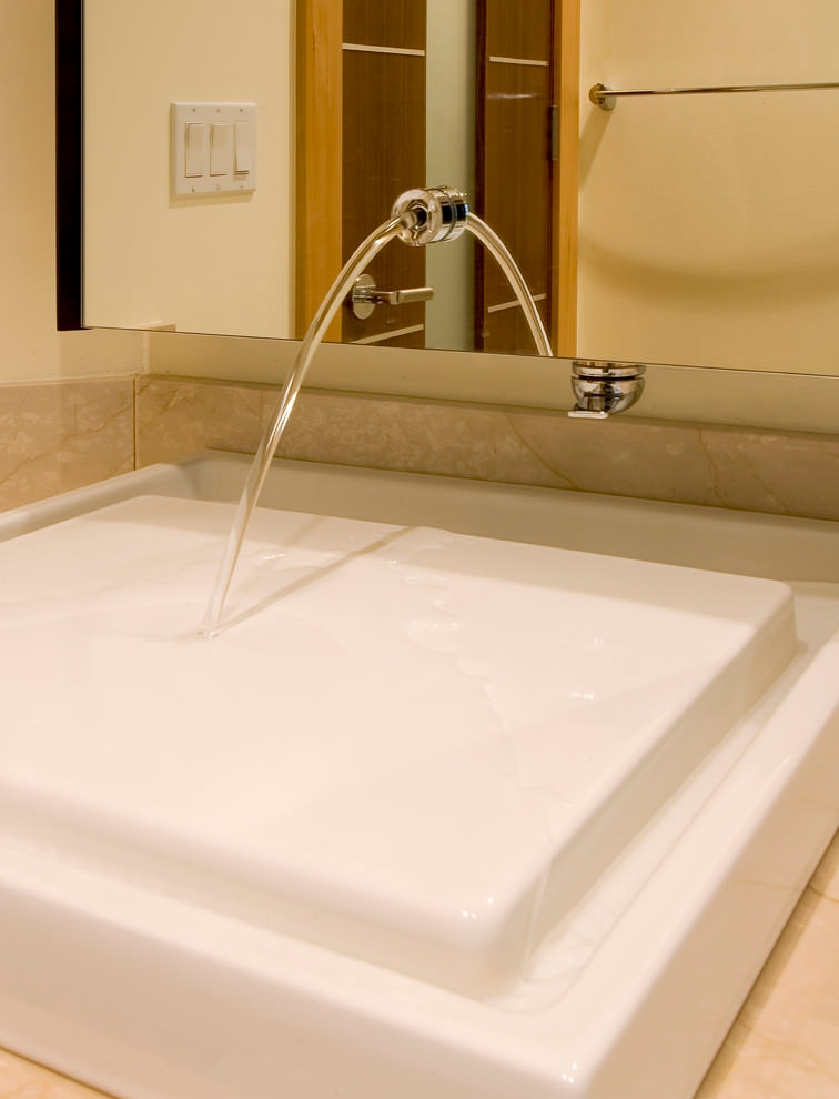 White Marble Bathroom Sink Designs