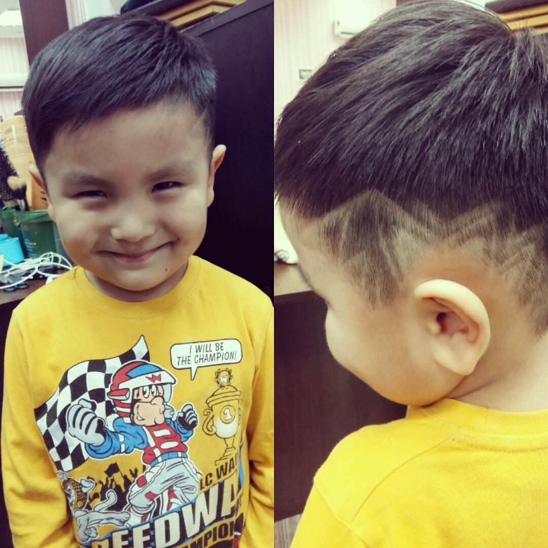 side designed haircut
