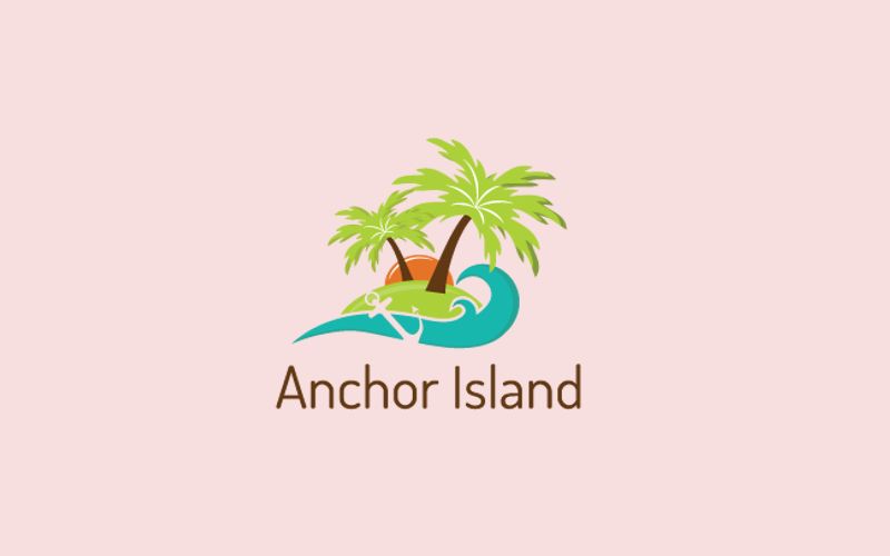 Anchor Island Logo Design
