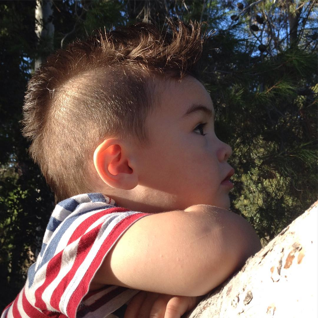 rocking hairstyle for kids
