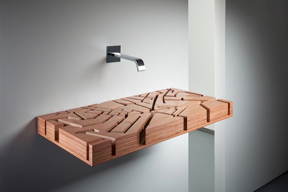 Maze Wooden Sink Designs