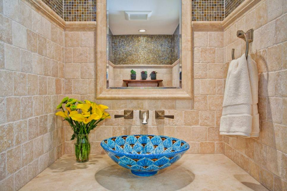 Floral Bathroom Sink Designs