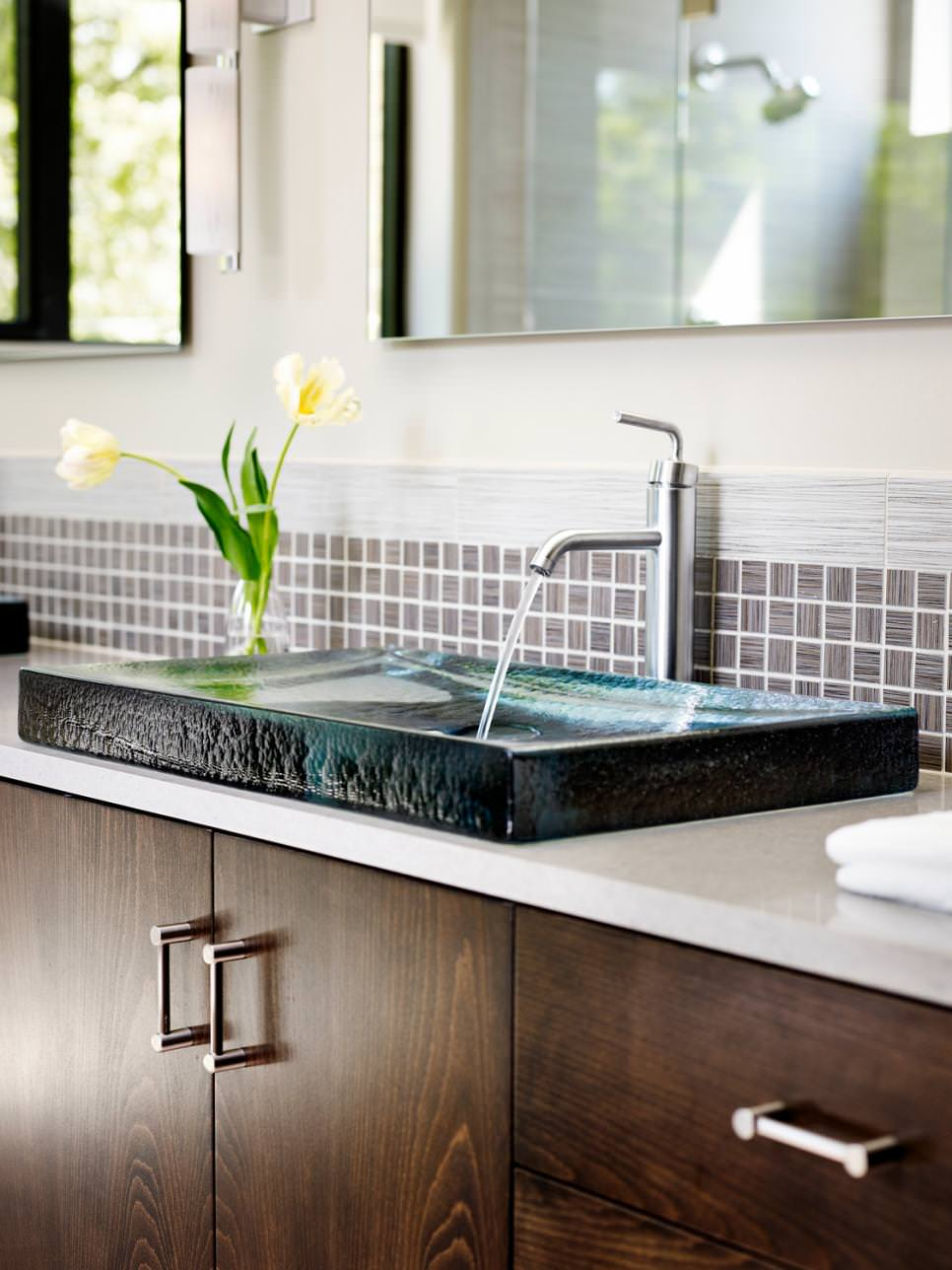 rectangle granite bathroom sink designs