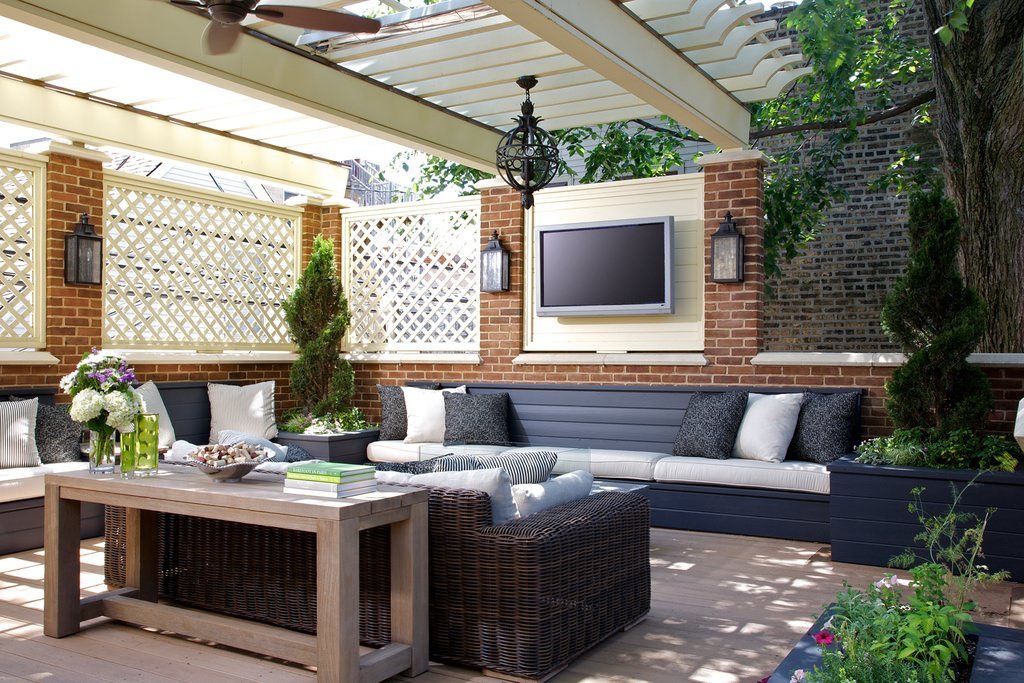 stylish outside patio model