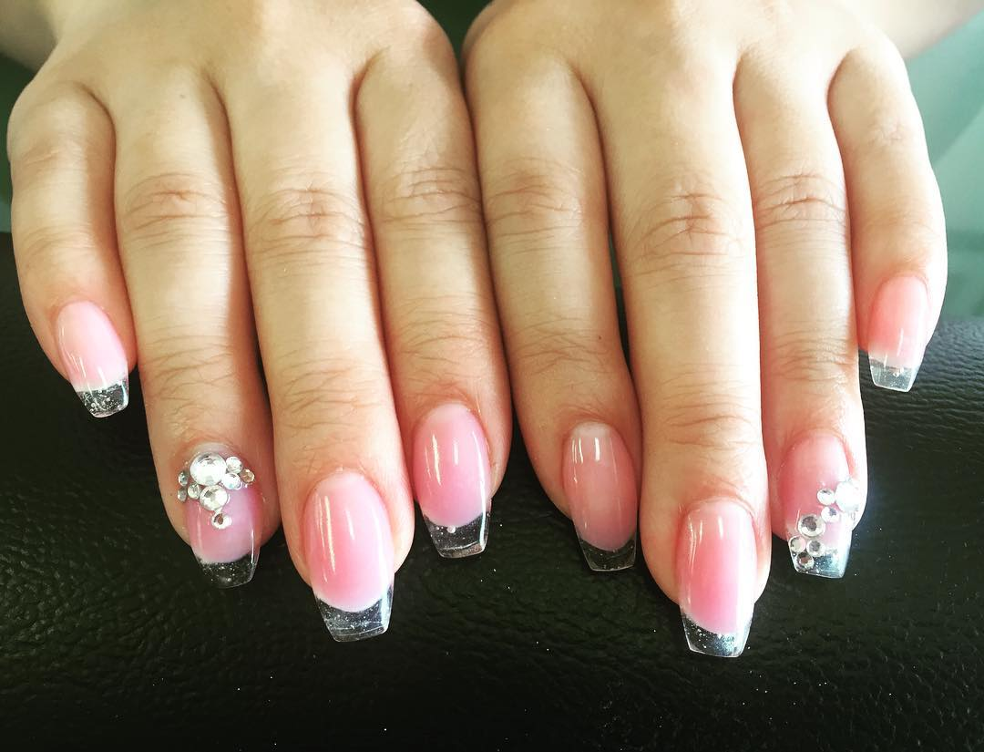 Light Pink Nail Design