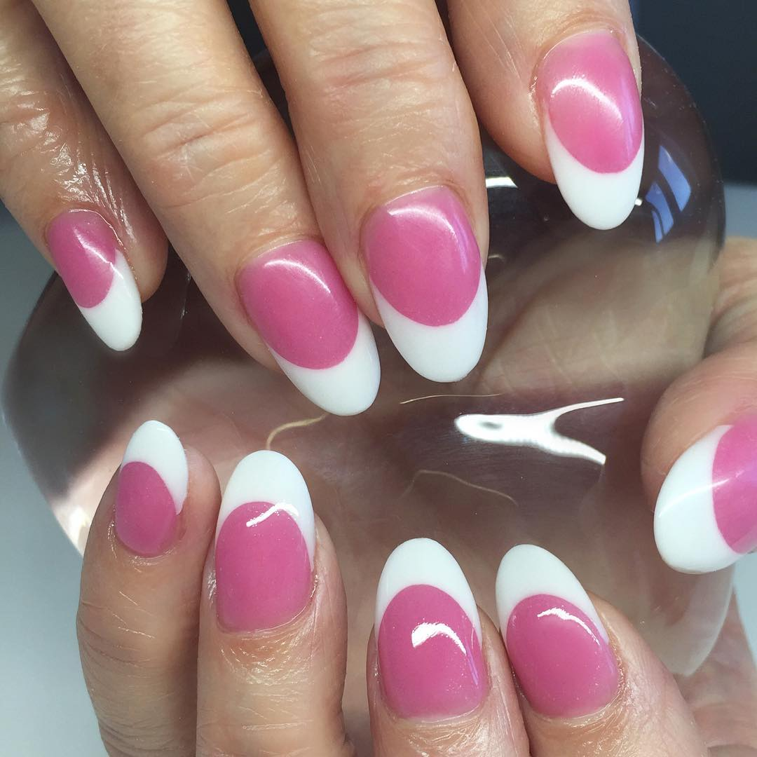 White Edge Nails