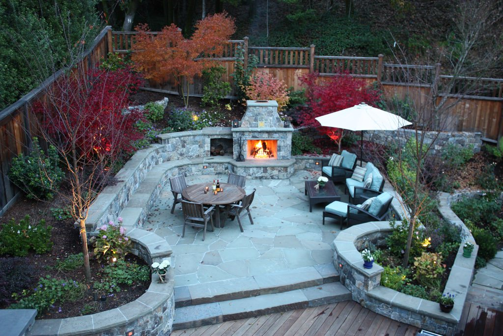 transitional concerte patio designs