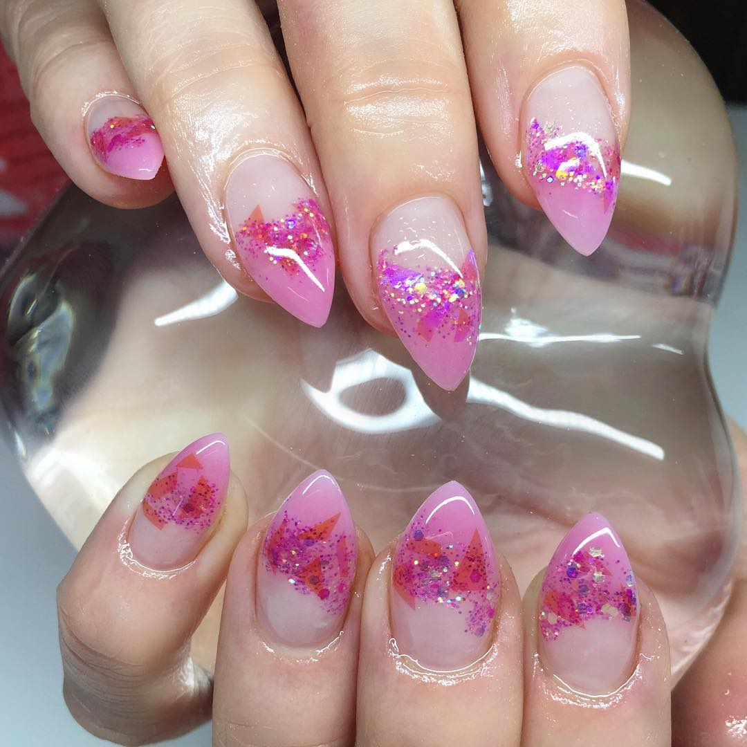 half nail shining art
